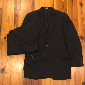 Joe. A. Bank suit - navy birds eye - 40 Long